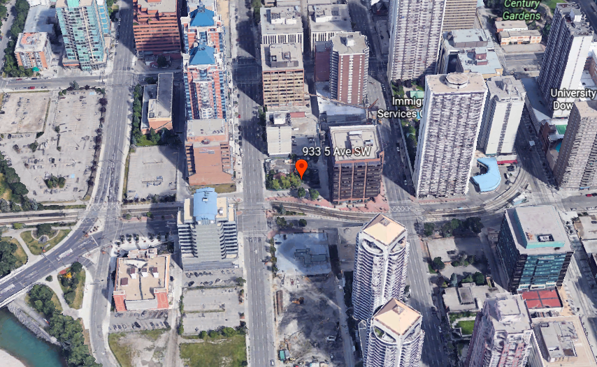 One of the sites the City of Calgary is looking to sell to non-profit groups to encourage construction of more affordable housing units is pictured on Google Earth on June 5, 2017.