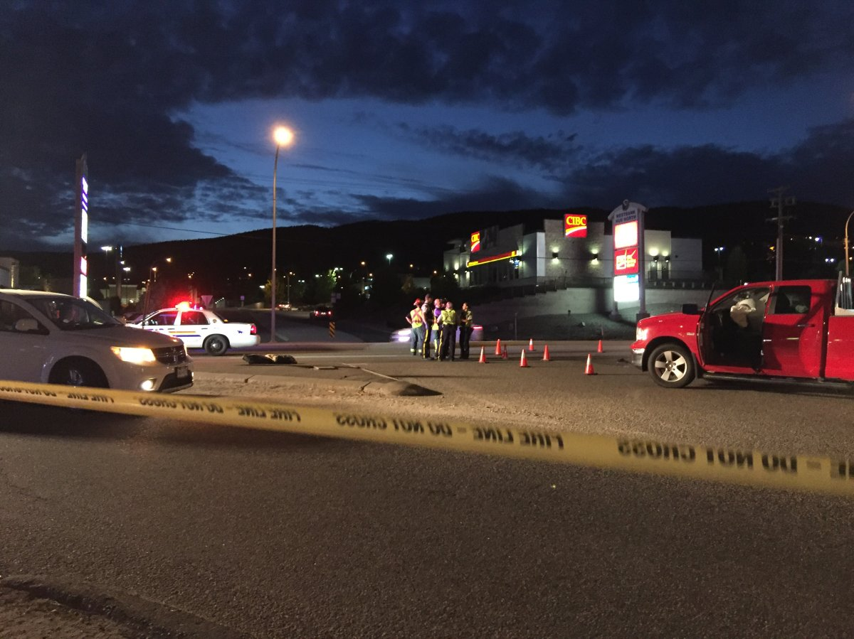 A West Kelowna man was killed when his motorcycle collided with a pickup truck  on Highway 97 Wednesday night.
