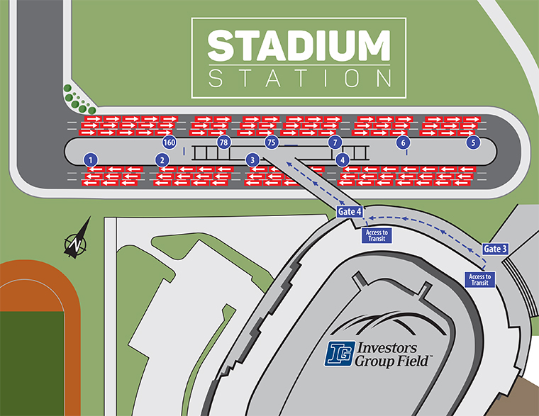Investors Group Field Stadium Station Map