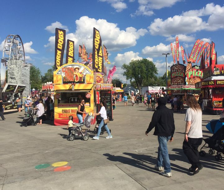 The K-Days midway on Tuesday, July 25, 2017.