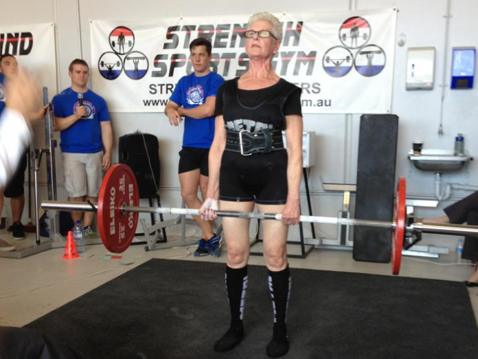 Marion Keane has set a new goal for herself: the 77-year-old will aim to lift 220 pounds at a competition later this year.