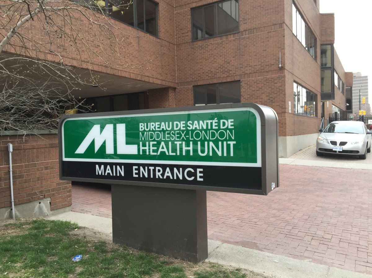 The Middlesex London Health Unit at 50 King St. in London, Ont.