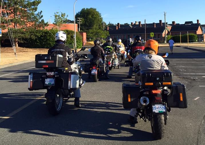 The Military Police National Motorcycle Relay takes off from CFB Esquimalt on Sunday, July 30, 2017.
