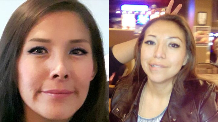 Glynnis Fox (left) and Tiffany Ear (right) were two of three people found dead in a burned car in Calgary on Monday.
