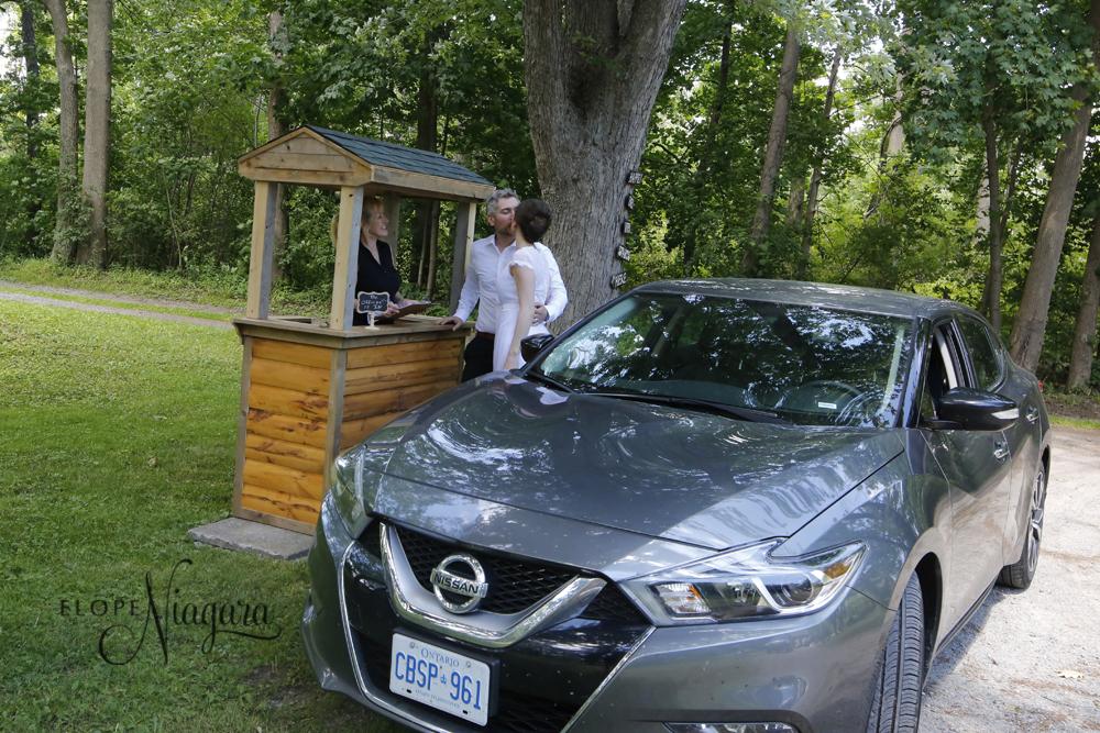 niagara drive through wedding