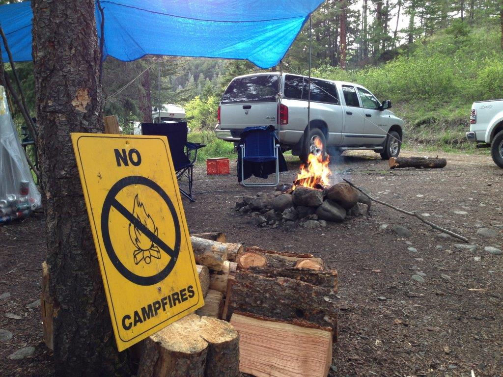 A fire ban was issued Sunday in parts of southern Alberta.