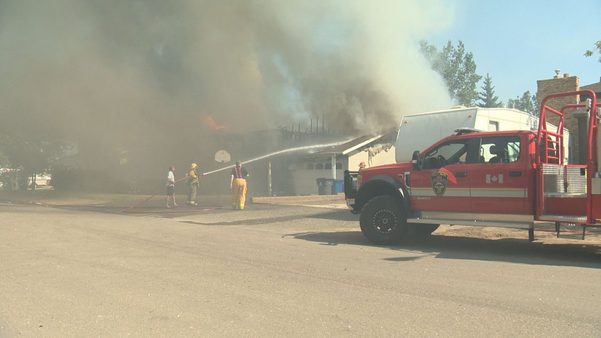 A house fire broke out in Pilot Butte, Sask., on Saturday afternoon.