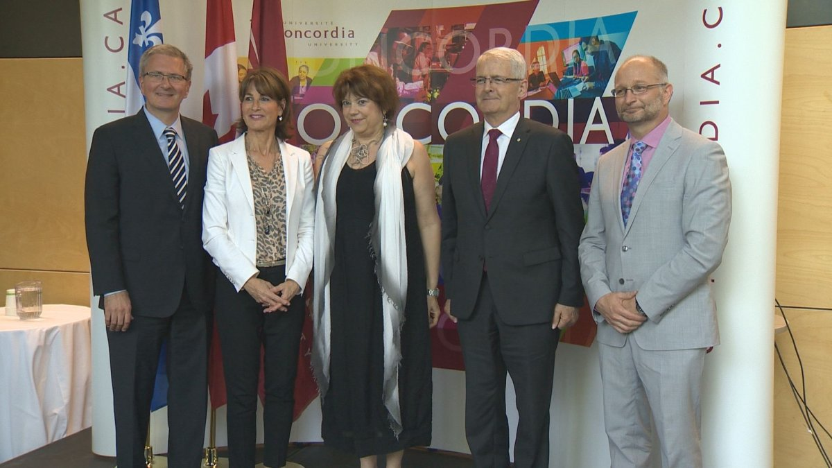 Transportation Minister and Concordia University Officials announce 52.7 million infrastructure project. Tuesday July 11, 2017.