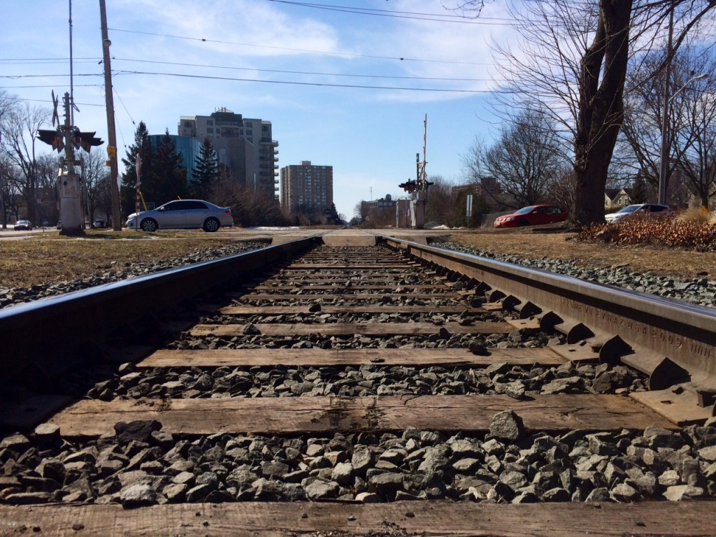 A man has died after being hit by a train in Brant County.