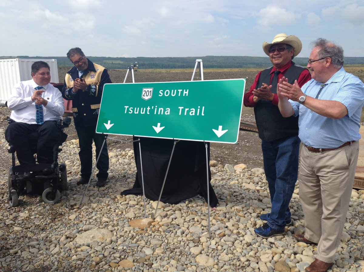 """Officials announced the Southwest Calgary Ring Road would be renamed """"Tsuut'ina Trail"""" on Monday, July 10,2017."""