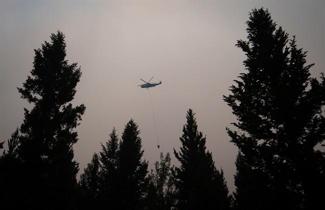 The City of Merritt is under evacuation alert Sunday night.
