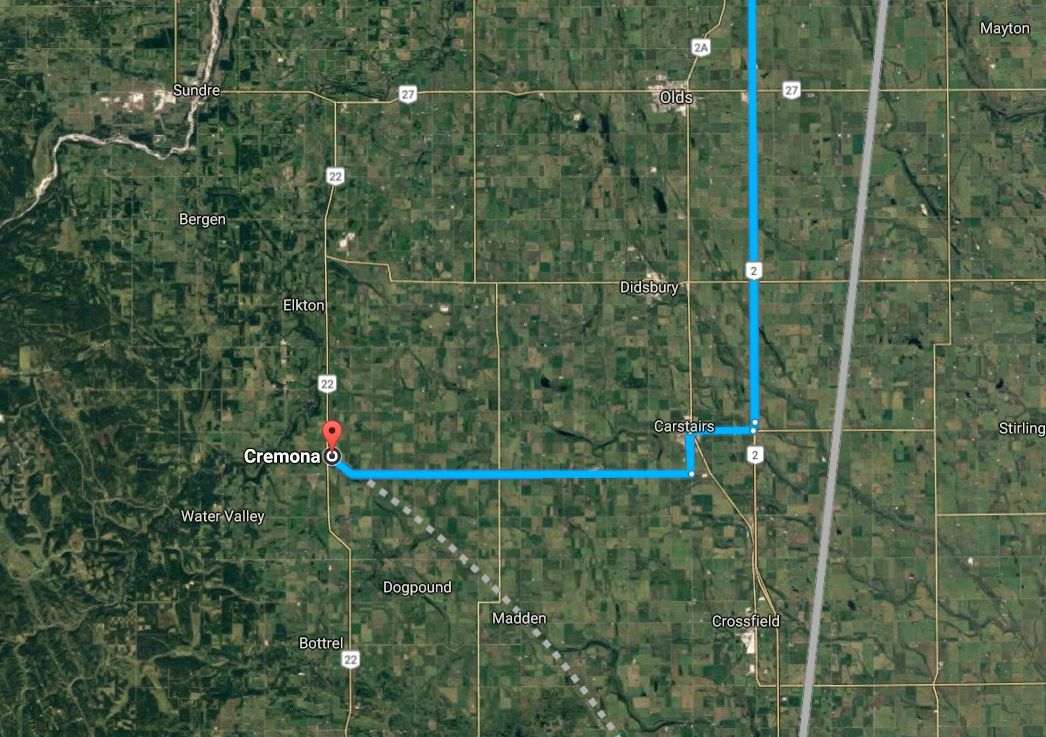 The workplace fatal happened at a hay plant east of Cremona, Alta.