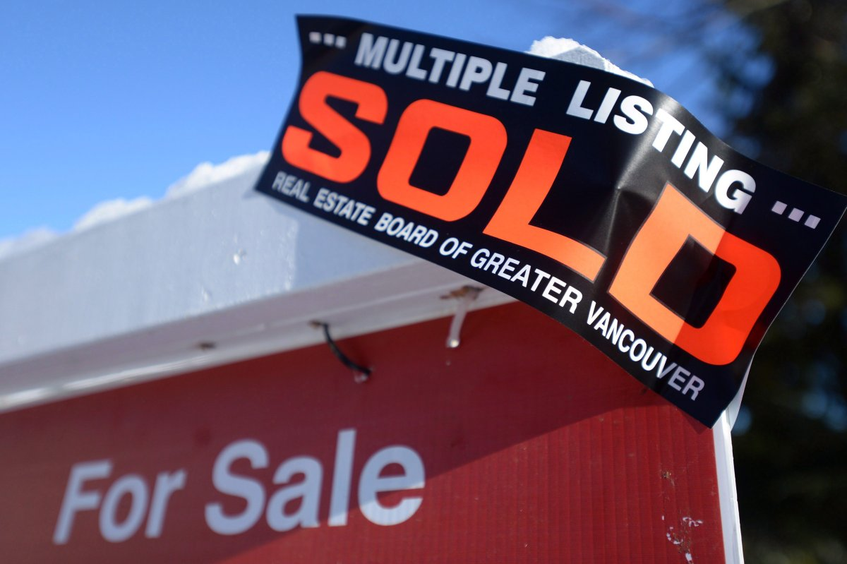 The local realtors association says 752 sales were recorded last month in Hamilton -- a year-over-year increase of 9 per cent.