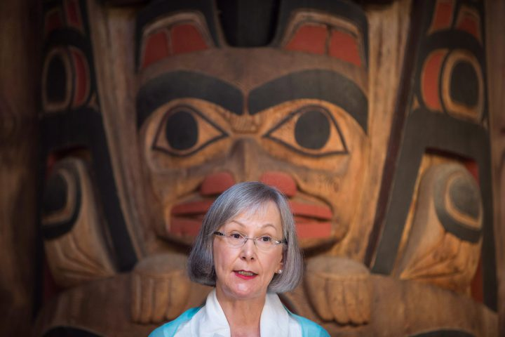 Marion Buller, Chief Commissioner of the National Inquiry into Missing and Murdered Indigenous Women and Girls, speaks during a news conference on July 6.
