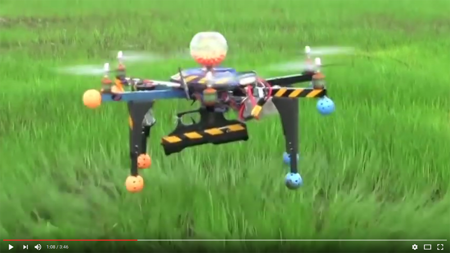 A paintball gun can be accurately fired from a consumer-grade drone, a proof-of-concept video shows.