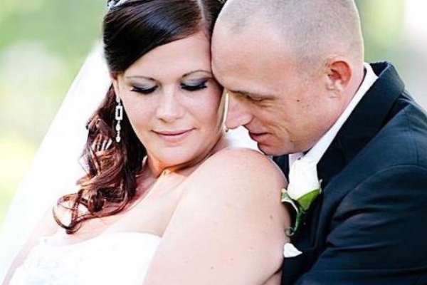 Geoff Morphew, shown with his wife Sarah, lost an arm in an industrial accident on Wednesday.