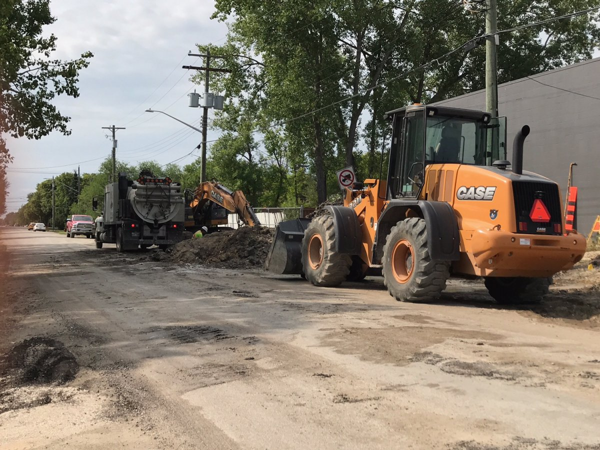 Construction caused brown water for many in North Kildonan Tuesday.
