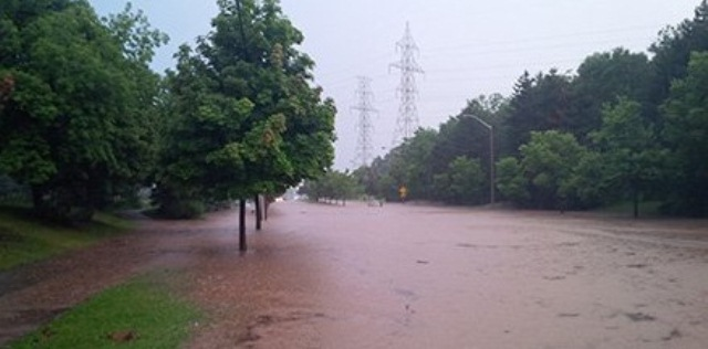 A record 191 mm of rain in just eight hours flooded more than 3,000 homes in Burlington on August 4, 2014.