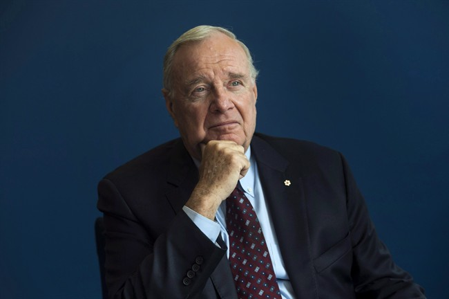 Former prime minister Paul Martin poses for a portrait following an interview with The Canadian Press in Ottawa, Thursday May 12, 2016.