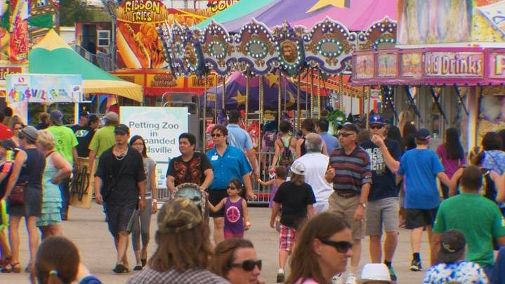 Crews worked on Monday to clean up the Saskatoon Exhibition, which welcomed roughly 205,500 visitors this summer.