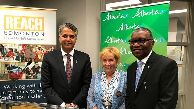 Community and Social Services Minister Irfan Sabir announces the province is investing $600,000 towards preventing family violence within immigrant and refugee communities, Tuesday, August 8, 2017.
