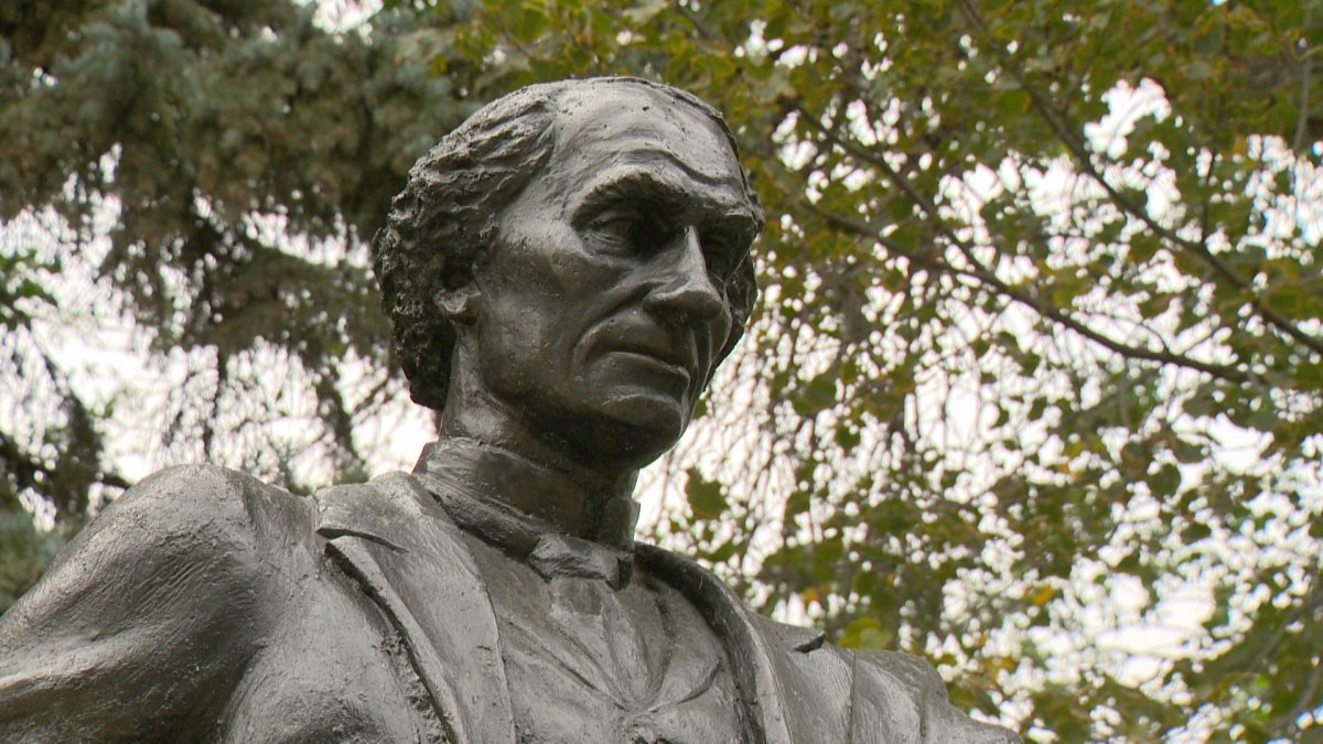 A statue of John A. Macdonald in Victoria Park. Some people are calling for a closer look at the first Canadian prime minister's history.