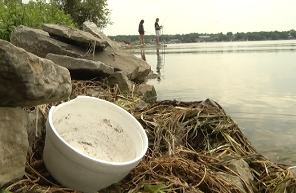 The James A. Gifford Causeway is a fishing hotspot but it's also becoming an eyesore as litter is being left behind.