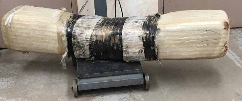 This giant bundle of marijuana was launched over the US-Mexico border Wednesday.