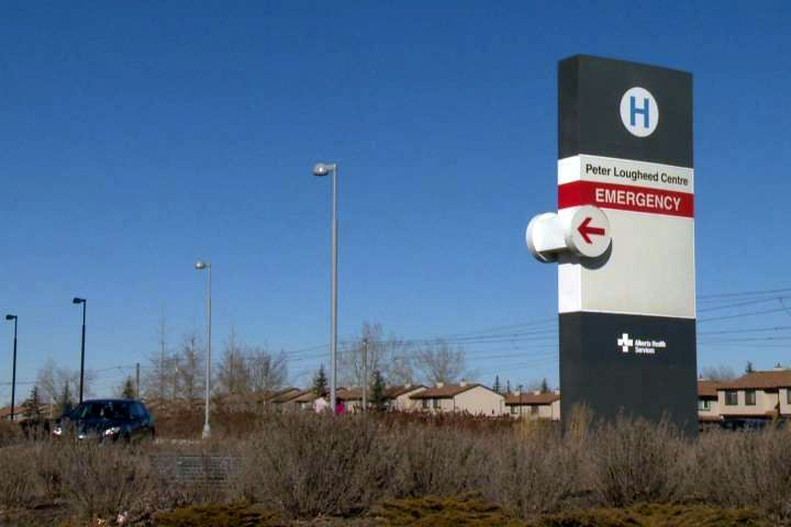 Police said a man with stab wounds was dropped off at the Peter Lougheed Hospital early Monday.