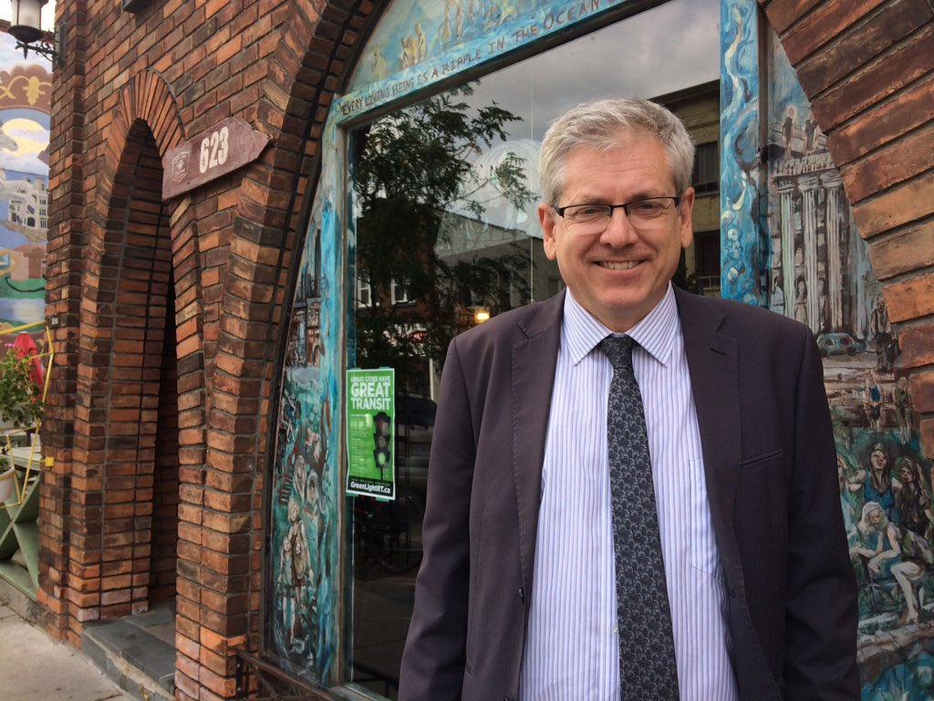 NDP Member of Parliament and leadership candidate Charlie Angus outside the Root Cellar in London, Ont.