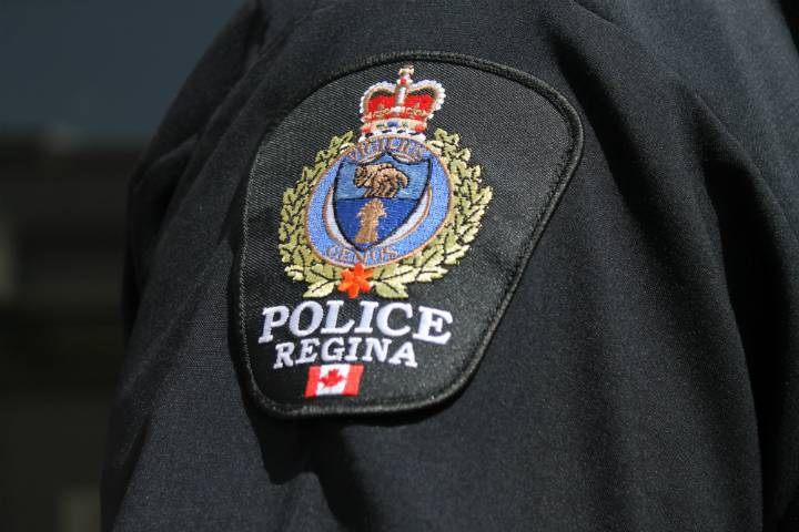 A Regina Police Service badge is seen in this file photo.
