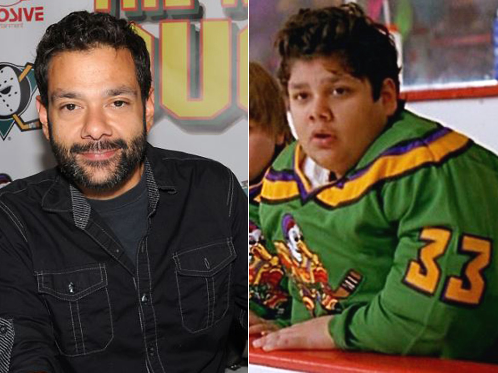 Shaun Weiss in 2015, and in 1992's 'Mighty Ducks'