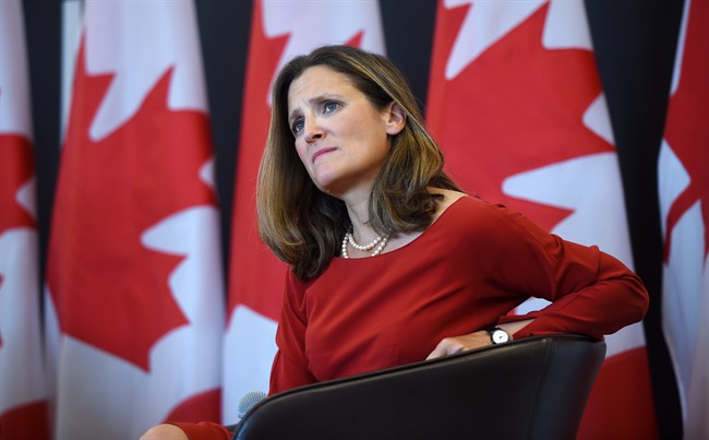 Foreign Affairs Minister Chrystia Freeland heads to Washington on Wednesday for renewed NAFTA negotiations.
