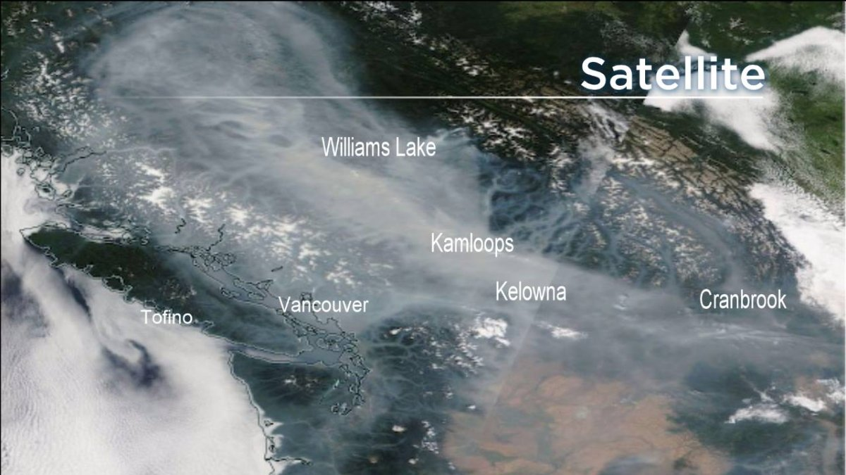 Widespread smoke from wildfires across B.C.