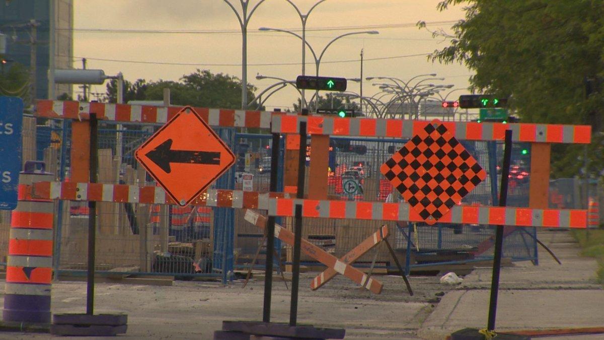Construction on Saint-Jean Boulevard is causing a traffic headache, Thurs. Aug. 24, 2017.