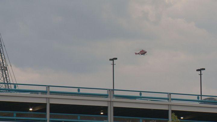 File photo of an air ambulance.