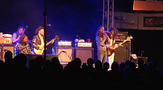 The Sheepdogs headlined Peterborough Musicfest on Wednesday, August 16, 2017.