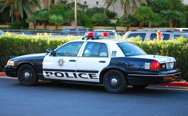 Las Vegas Metropolitan Police Department cruiser.