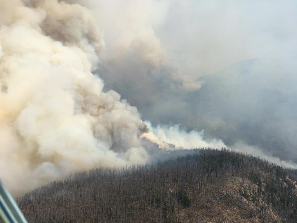 Washington State Diamond Creek fire has crossed into Canada, west of Osoyoos, B.C.