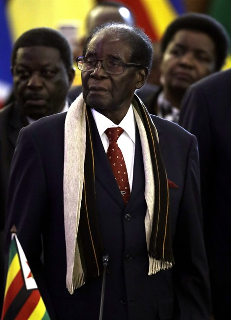 Zimbabwean President Robert Mugabe attends the Southern African Development Community's leaders' conference in Pretoria, South Africa, Saturday, Aug. 19, 2017.