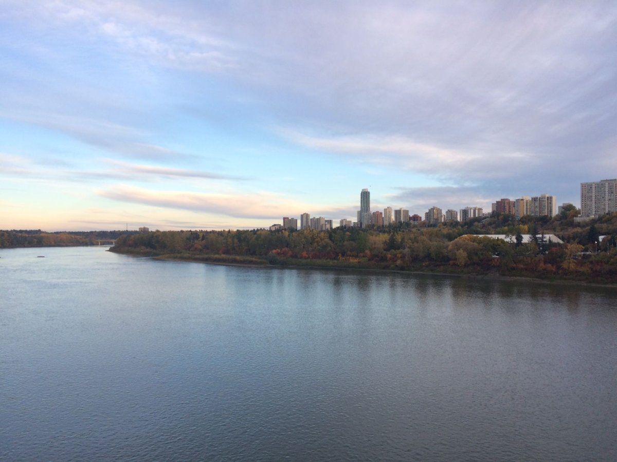 The city of Edmonton, as seen from across the North Saskatchewan River on Wednesday, Sept. 27, 2017.