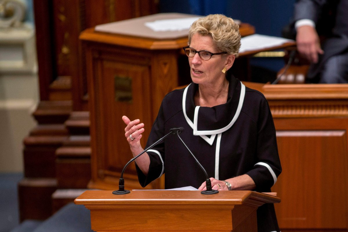 Ontario Premier Kathleen Wynne speaks at the National Assembly in Quebec City, Thursday, September 21, 2017.