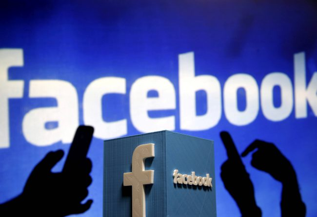 A 3D plastic representation of the Facebook logo is seen in this photo illustration.