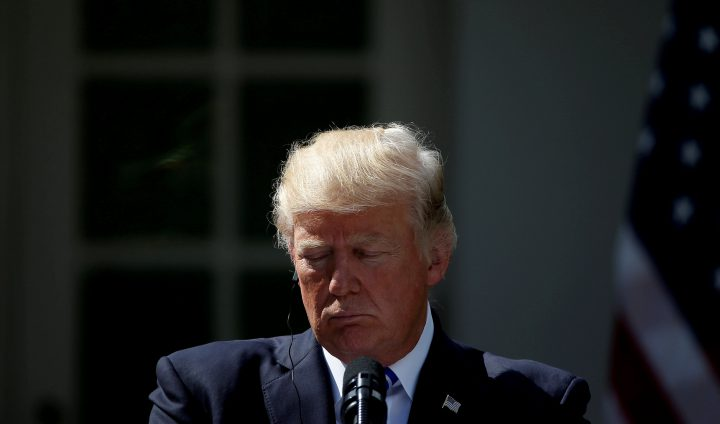 U.S. President Donald Trump during a press conference in the Rose Garden at the White House on Sept. 26, 2017.