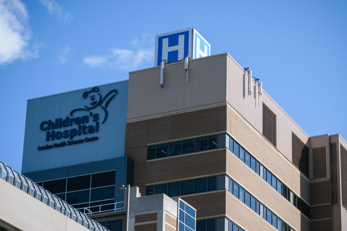 London Health Sciences Centre and Children's Hospital sign, September 6, 2017. (Matthew Trevithick/AM980).