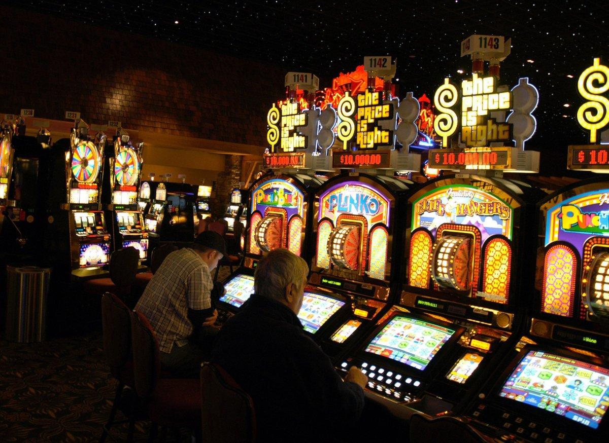 Gamblers play slot machines at the River Rock Casino in Richmond B.C.
