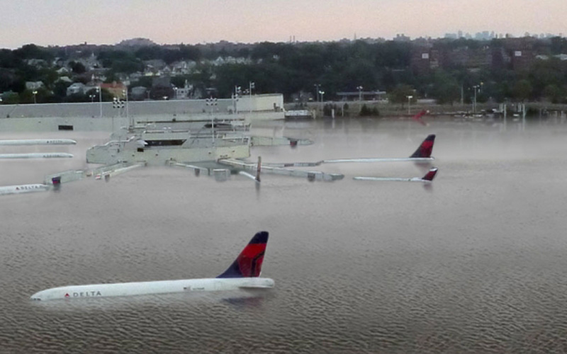 This isn't an image of a flooded airport in Houston.