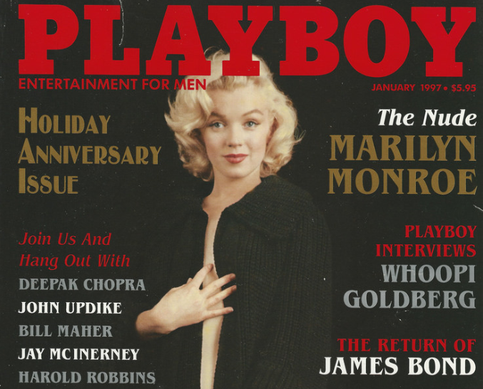 A Playboy magazine cover from January 1997.