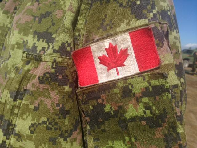 A file photo of a Canadian Armed Forces uniform.