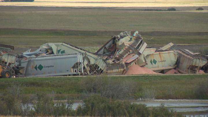 A Canadian Pacific freight train hauling potash has derailed southeast of Saskatoon.